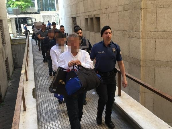 Bursa'da 41 FETÖ şüphelisi adliyede