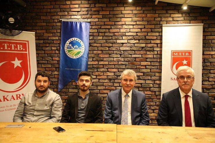 Başkan Ekrem Yüce MTTB İl teşkilatı üyeleriyle bir araya geldi