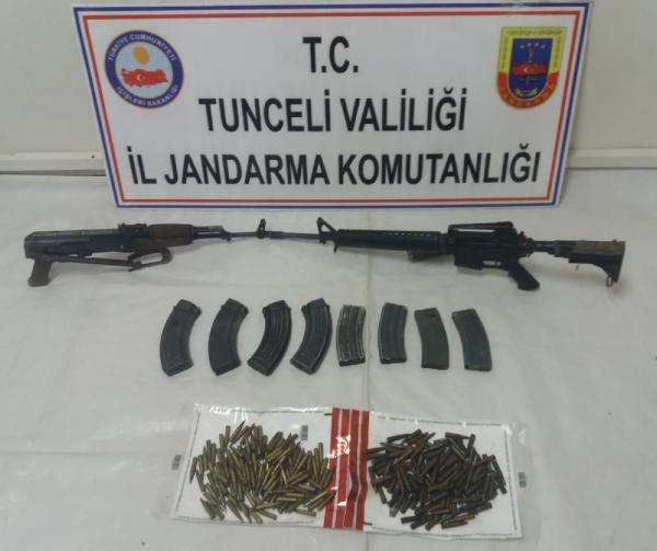Tunceli'de etkisiz hale getirilen 11 teröristin silahları ele geçirildi