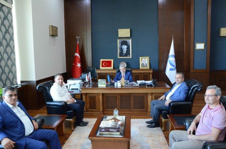 ATSO staj köprüsü kapsamında ASÜ Rektörü şahin ile görüştü