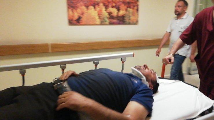 Kafasına sac düşen işçi yaralandı