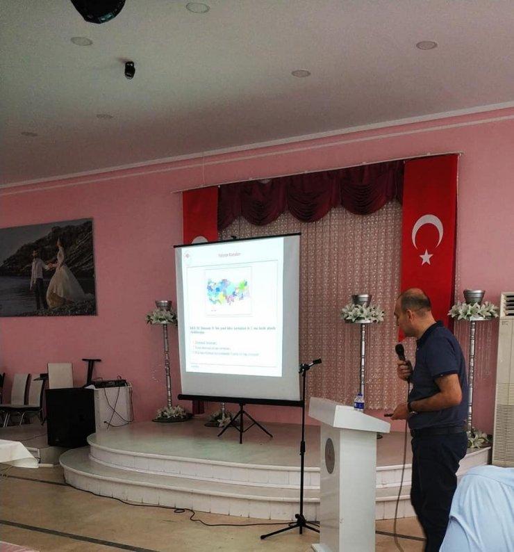 Muhtarlara hizmet içi eğitim semineri