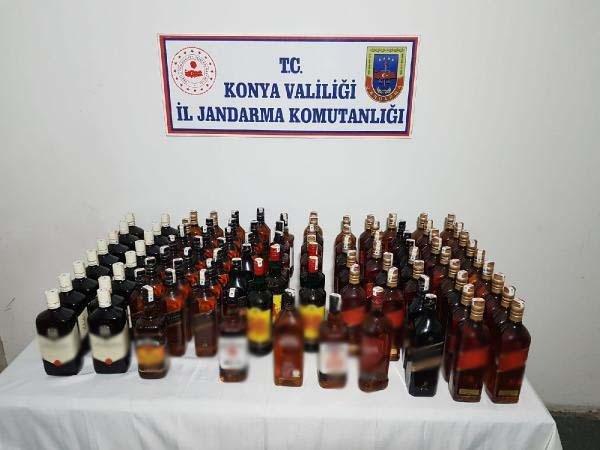 Konya'da sahte içki operasyonu: 1 gözaltı