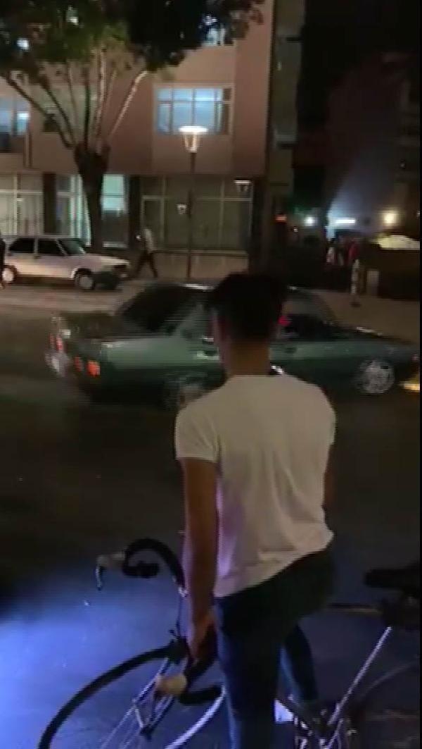 Konya'da plakasını kapattı caddede drift yaptı