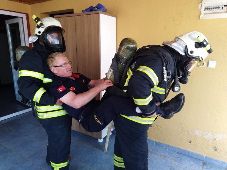 Ateş avcıları eğitimden geçiyor