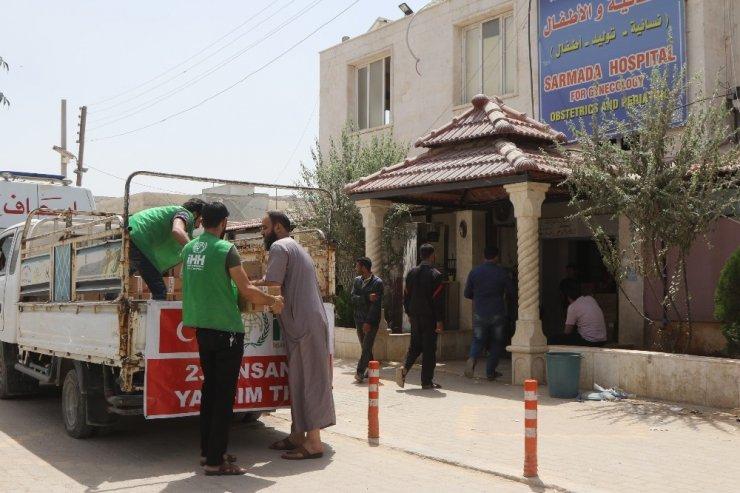İdlib'deki hastanelere mama desteği