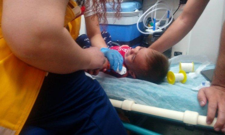 Akrebin soktuğu çocuk hastaneye kaldırıldı