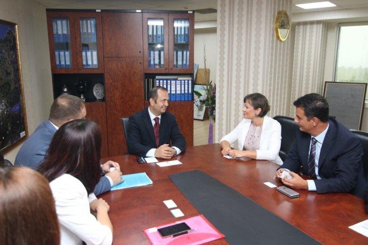 Yatırım araştırması için gelen Krasnador heyeti Büyükşehir'i ziyaret etti