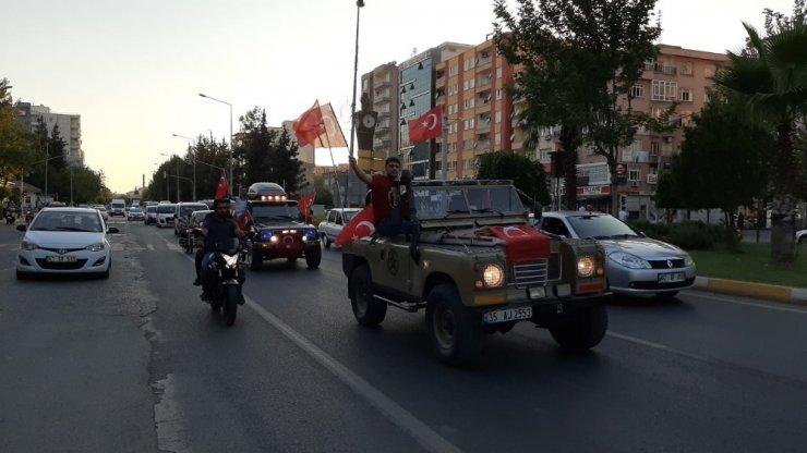 Sincik'te şehit polis için konvoy düzenlendi