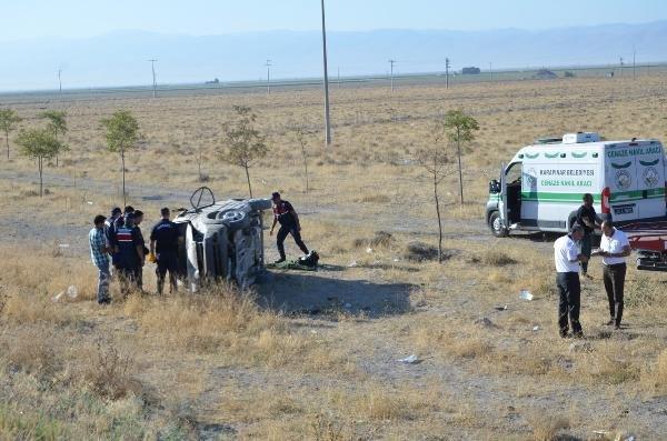 Konya'da düğün dönüşü feci kaza: 2 ölü, 3 yaralı