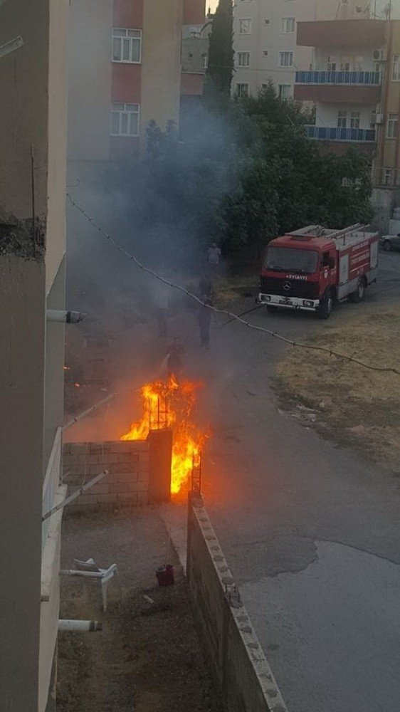 Otluk alanda çıkan yangın korkuttu