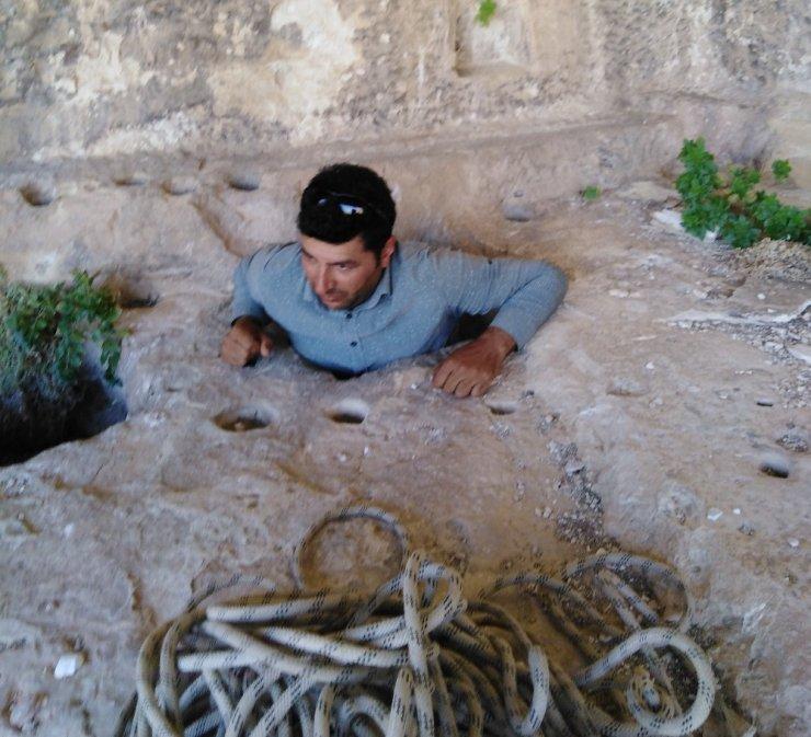 Adıyaman'da bin 800 yıllık tripleks mağaralara ilk kez girildi