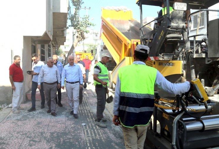Akdeniz Belediyesi, Güneş Mahallesi pazar sokağını yeniledi