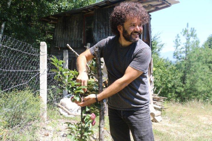 10 yıllık hayali olan organik üretim için mesleğini bıraktı