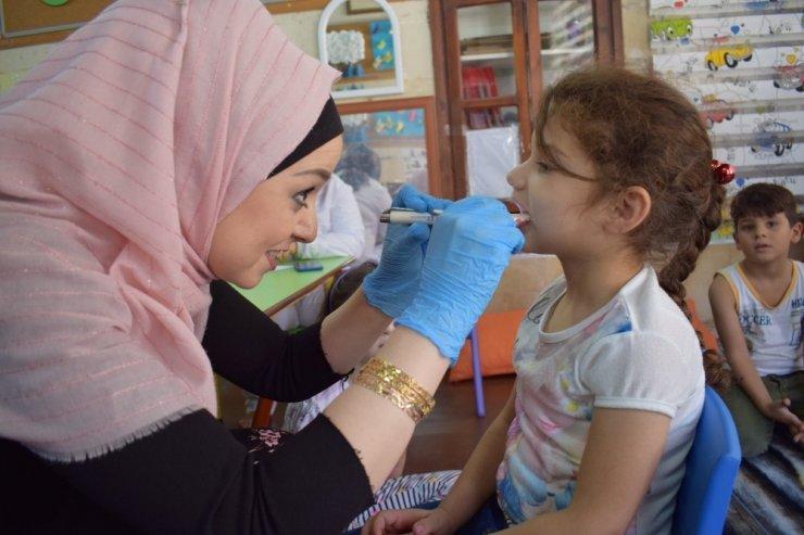 Çocuklar sağlık taramasından geçti