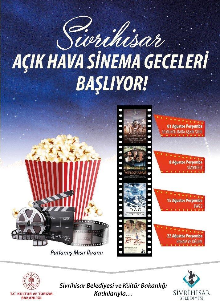 Sivrihisar'da açık hava sineması geceleri başlıyor