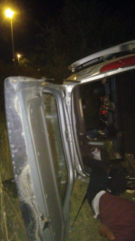 Ankara'da kontrolden çıkan araç takla attı: 1 ağır yaralı