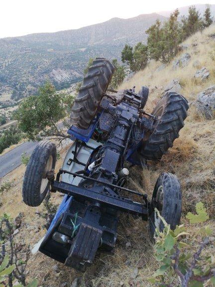 Gercüş'te traktör devrildi: 1 yaralı