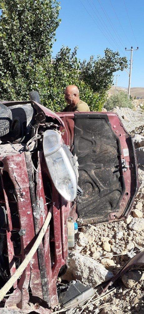Bayburt'ta trafik kazası: 1 yaralı