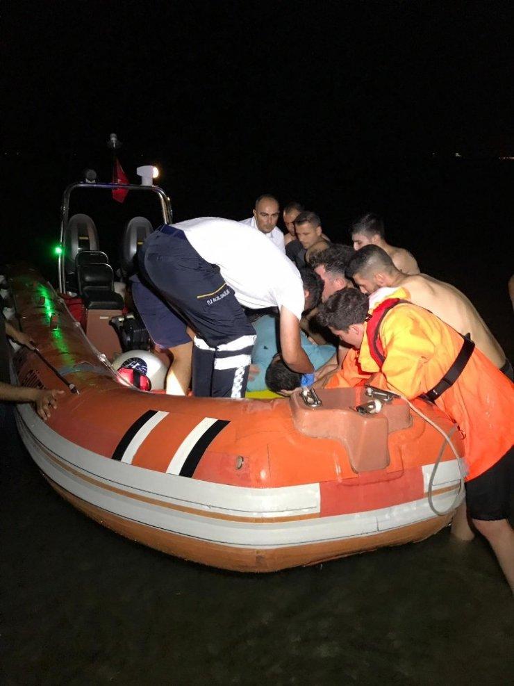 Denize düşen vatandaşı kurtarma seferberliği
