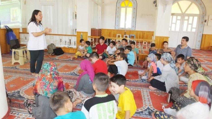 Balıkesir'de öğrencilere camide hijyen eğitimi verildi