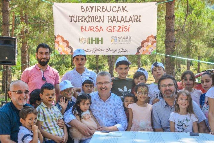 Yetim Türkmen çocukları Karacabey'i keşfetti