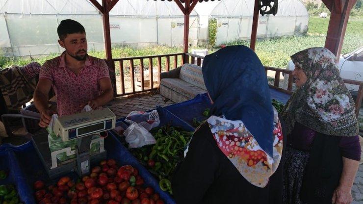 Seyitgazi'de yetiştirilen ürünler tezgaha düştü