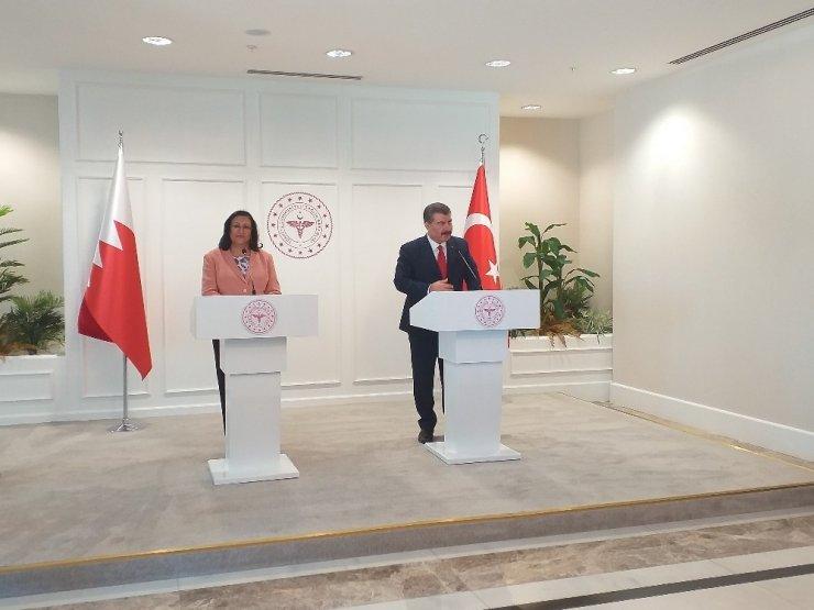 Sağlık Bakanı Fahrettin Koca, Bahreyn Sağlık Bakanı ile görüştü