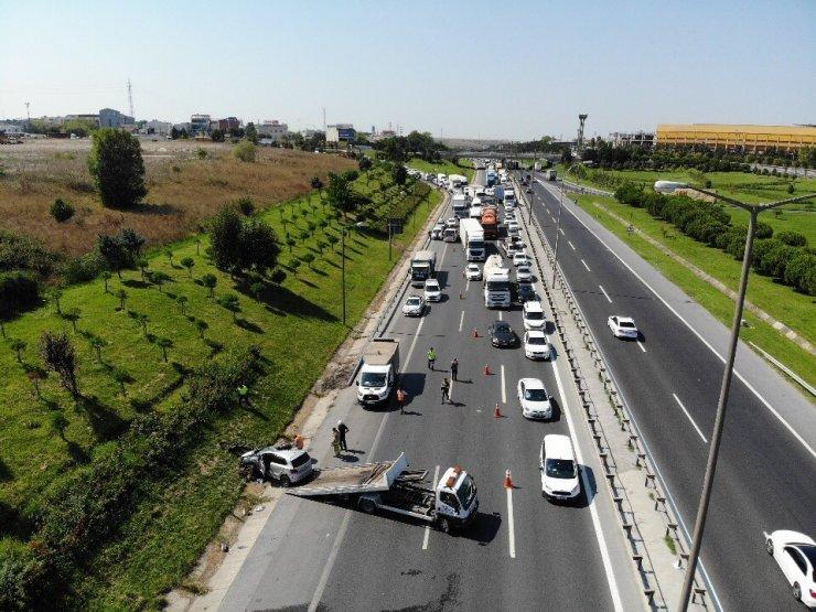 TEM Otoyolu'nda kaza: 1 yaralı