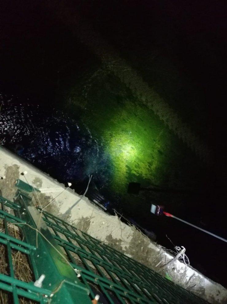 Dereyi mavi ve yeşile boyayan işletmeye 144 bin TL ceza
