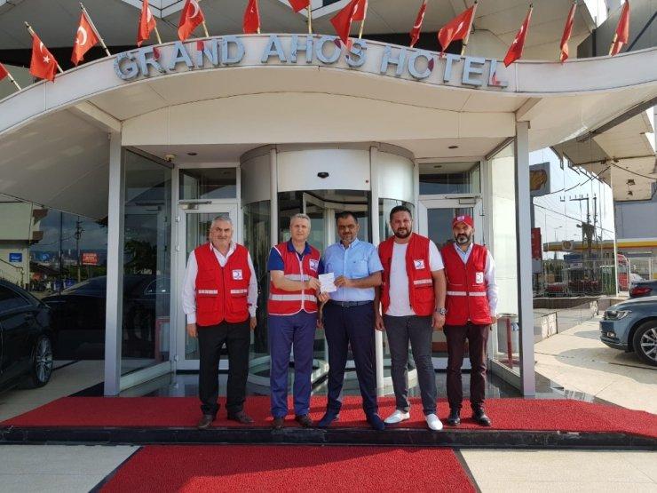 Başkan Demirtaş Kızılay'a kurban bağışında bulundu