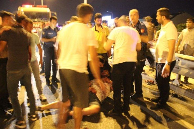 Kocaeli'de otomobile arkadan çarpan cip takla attı: 1 ölü, 3 yaralı