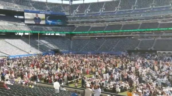 ABD'de on binlerce Müslüman stadyumda buluştu