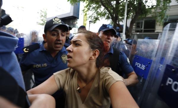 Ankara'da 'kayyum' eylemi: 8 gözaltı
