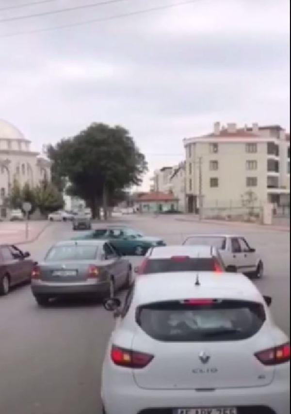 Konya'da düğün konvoyunda drifte 5 bin lira ceza!