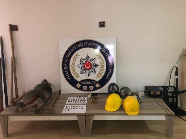 Tekirdağ'da tarihi eser kaçakçılığı operasyonu: 10 gözaltı