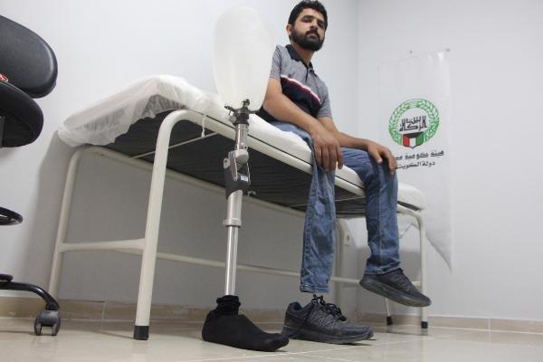 Savaşta el ve bacaklarını kaybeden 590 Suriyeliye protez takıldı