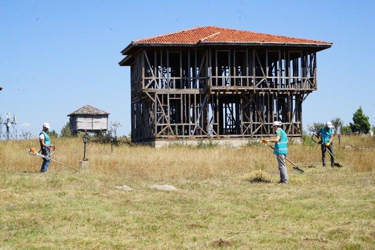 Kastamonu'da hükümlüler kültür köyünü temizledi