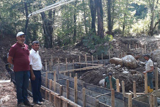 Karadere Sulama Tesisi ile 588 dekar arazi sulanacak