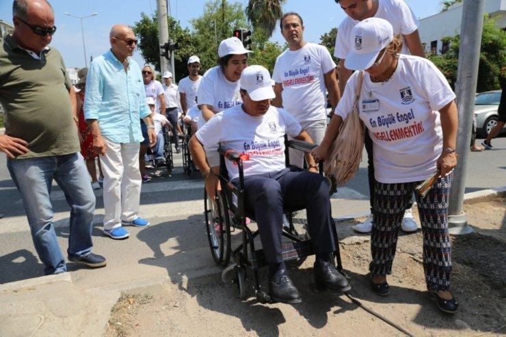 Belediye Başkanını tekerlekli sandalyede görenler şok oldu
