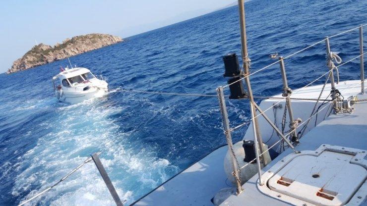 İmdatlarına Sahil Güvenlik ekipleri yetişti