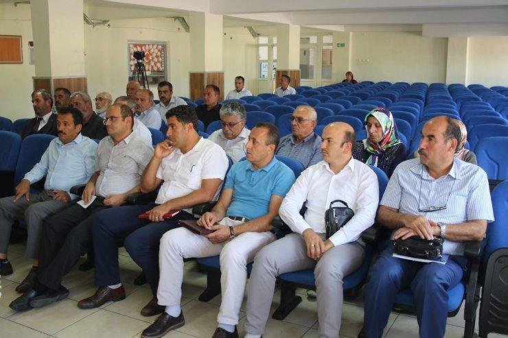 Hacılar'da muhtarlar toplantısı yapıldı