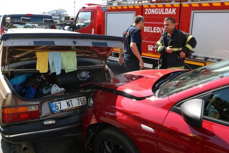 Zonguldak'ta zincirleme trafik kazası