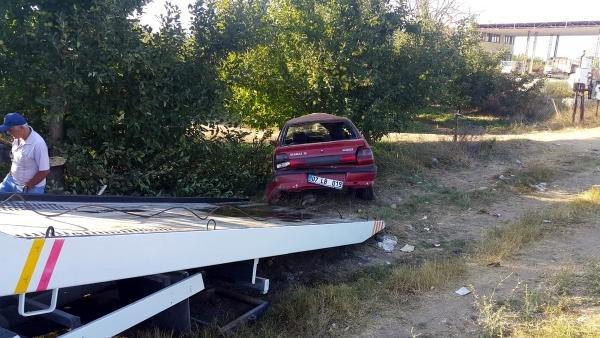 Konya yolunda otomobil elma bahçesine uçtu! Çok sayıda yaralı var