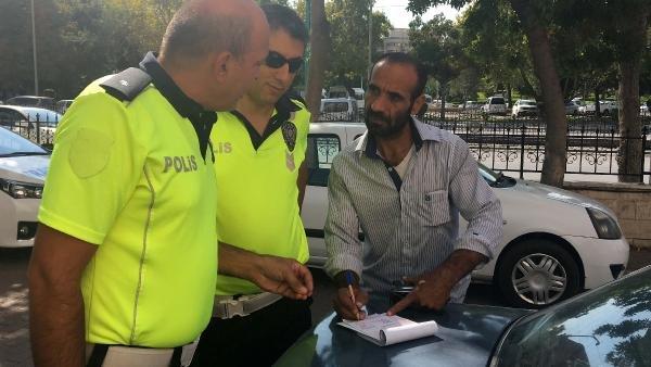 Konya'da iki çocuğu bagajda taşıyan sürücüye 515 lira para cezası kesild,i