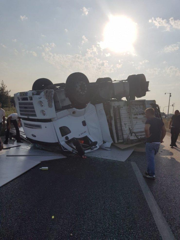 Bursa - İzmir Karayolunda dehşet anı kamerada