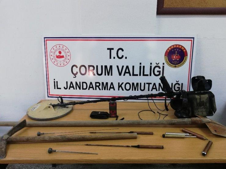 Jandarma'dan kaçak kazı operasyonu