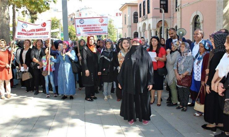 Elazığ'dan, Diyarbakır'da nöbet tutan annelere destek