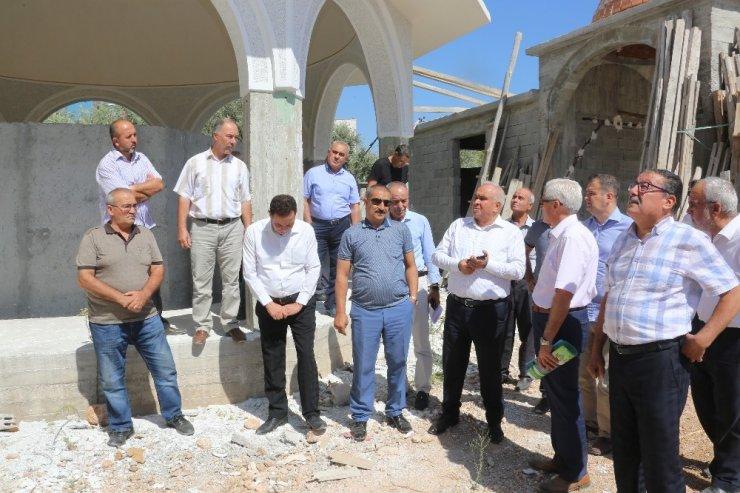 Tollu, cami inşaatını inceledi