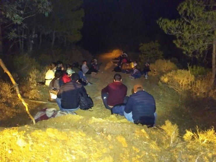 Datça'da karada ve denizde 51 kaçak göçmen yakalandı
